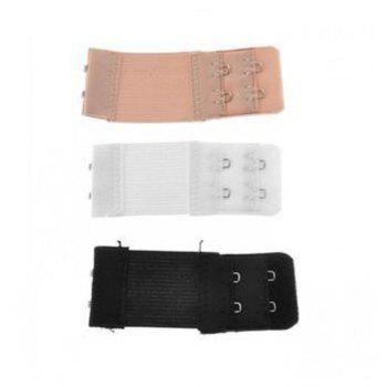 Ladies Bra Strap Growth Underwear Extended Buckle Elastic Strapless Three Loaded - COLORMIX