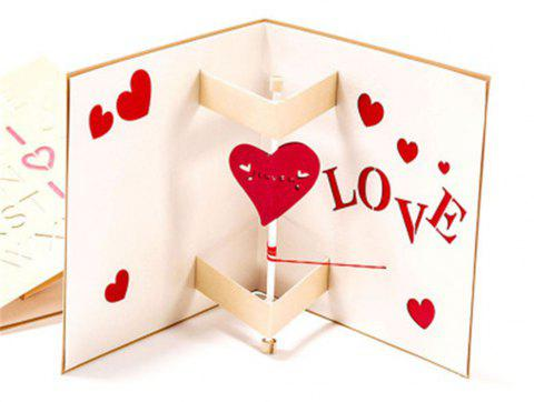 Creative Love Carte de voeux Manuel - Rouge