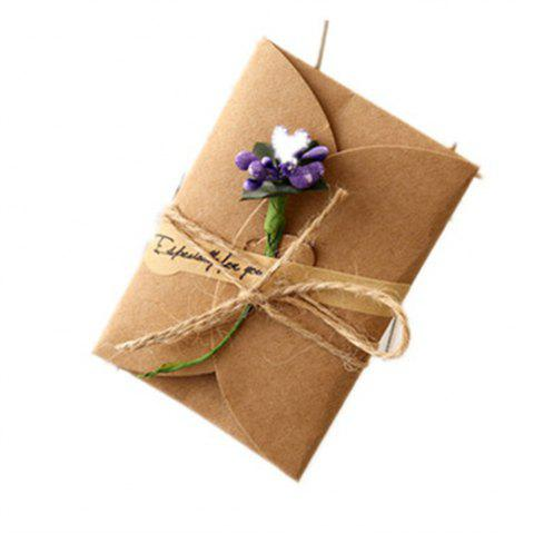 Creative Kraft PaperDried Flowers Greeting Card Manual Small Florist Send Customer Holiday Wishes - DAHLIA