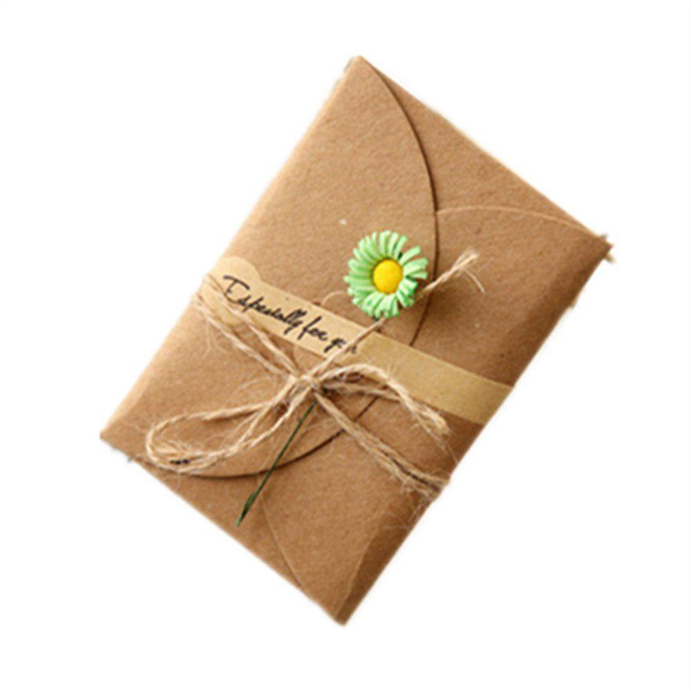 Creative Kraft PaperDried Flowers Greeting Card Manual Small Florist Send Customer Holiday Wishes - FERN
