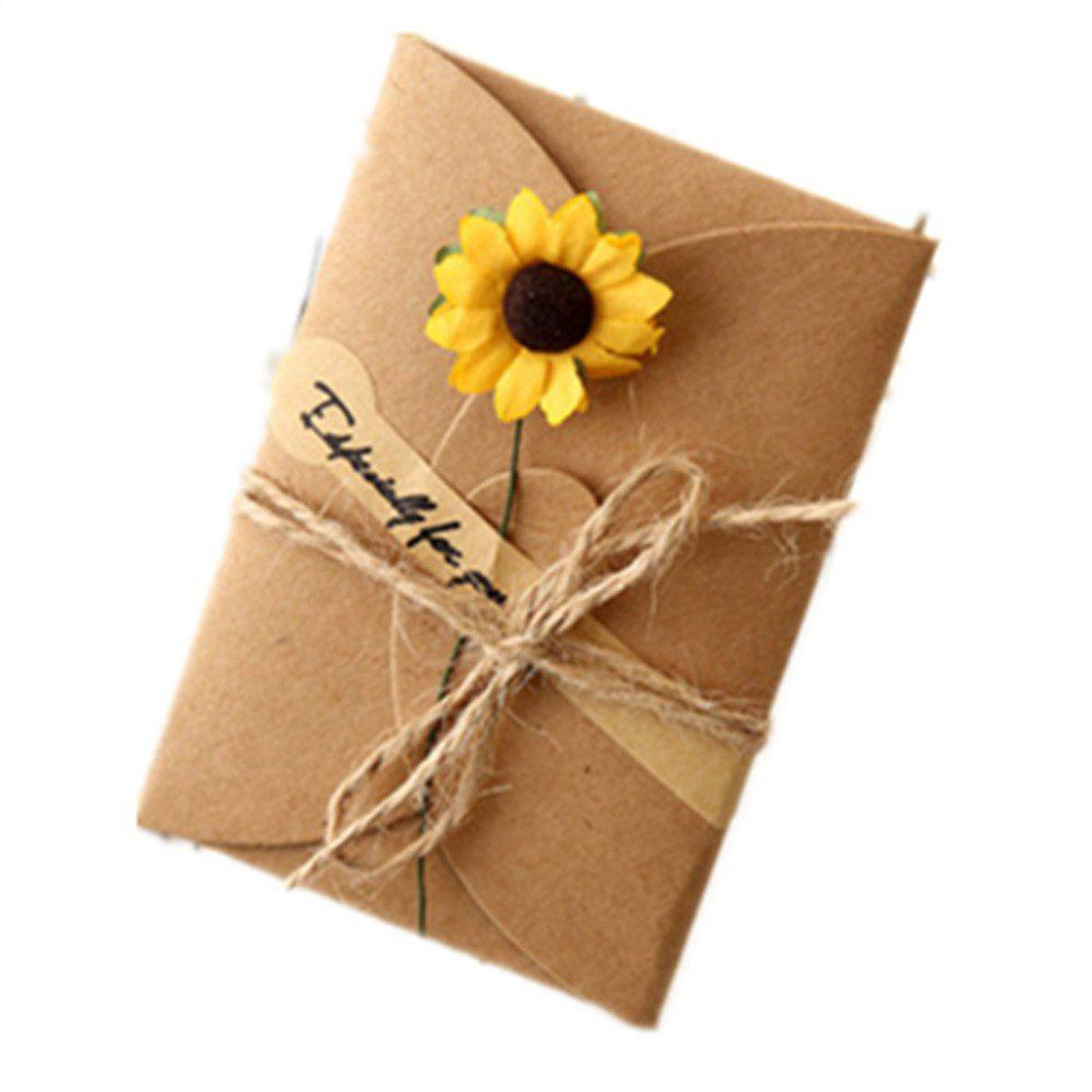Creative Kraft PaperDried Flowers Greeting Card Manual Small Florist Send Customer Holiday Wishes - DAISY