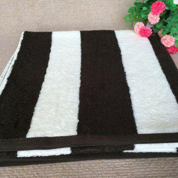 Pure Cotton Double-Sided Terry Towels - BLACK STRIPE