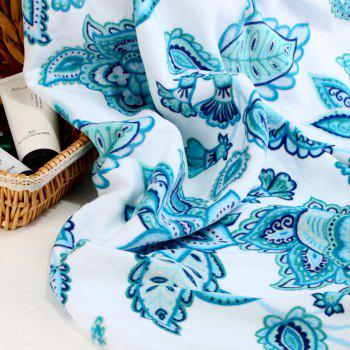 Pure Cotton Printed Beach Towels - BLUE