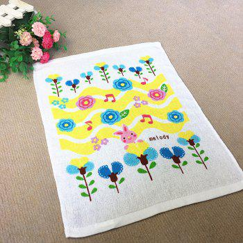 Pure Cotton Thin Double Loop Small Towel - WHITE