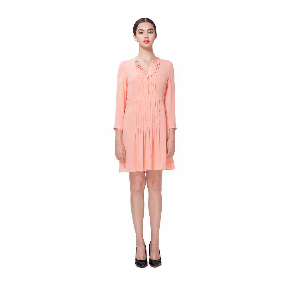 Robe en mousseline de soie rose - Orange Rose XL