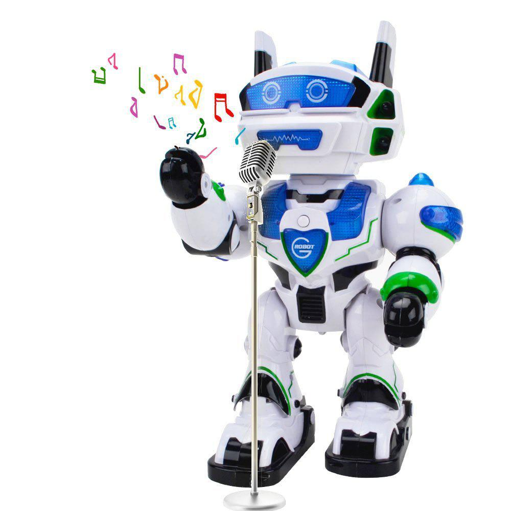 Voice Recognizing Intelligent Electronic Robot - COLORFUL/WHITE