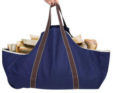 Collapsible Dust-Proof Firewood Log Carrier Wood Bag With Soft Handles - ROYAL