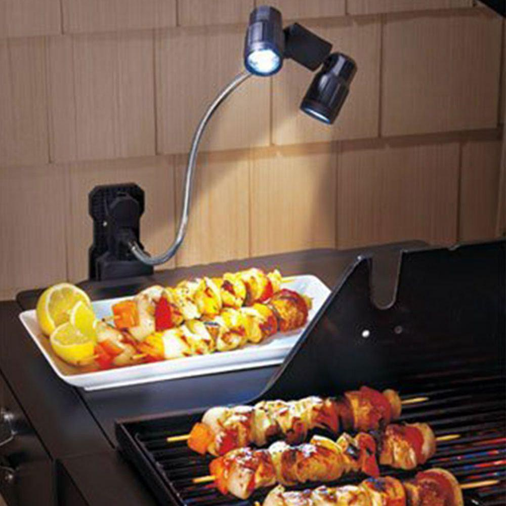 The New LED Multifunction Barbecue Black ABS Material Camping Lights - BLACK