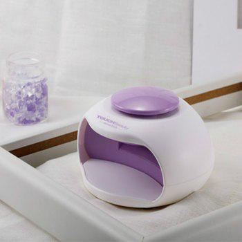 TOUCHBeauty TB-0889  Portable Nail Dryer with Air and LED Light Good for Regular Nail Polish - WHITE/PURPLE