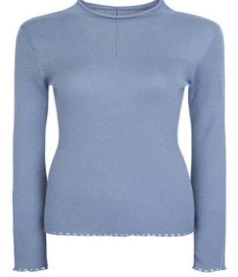 Fine Woollen Pullover Sweater - PANTONE TURQUOISE M