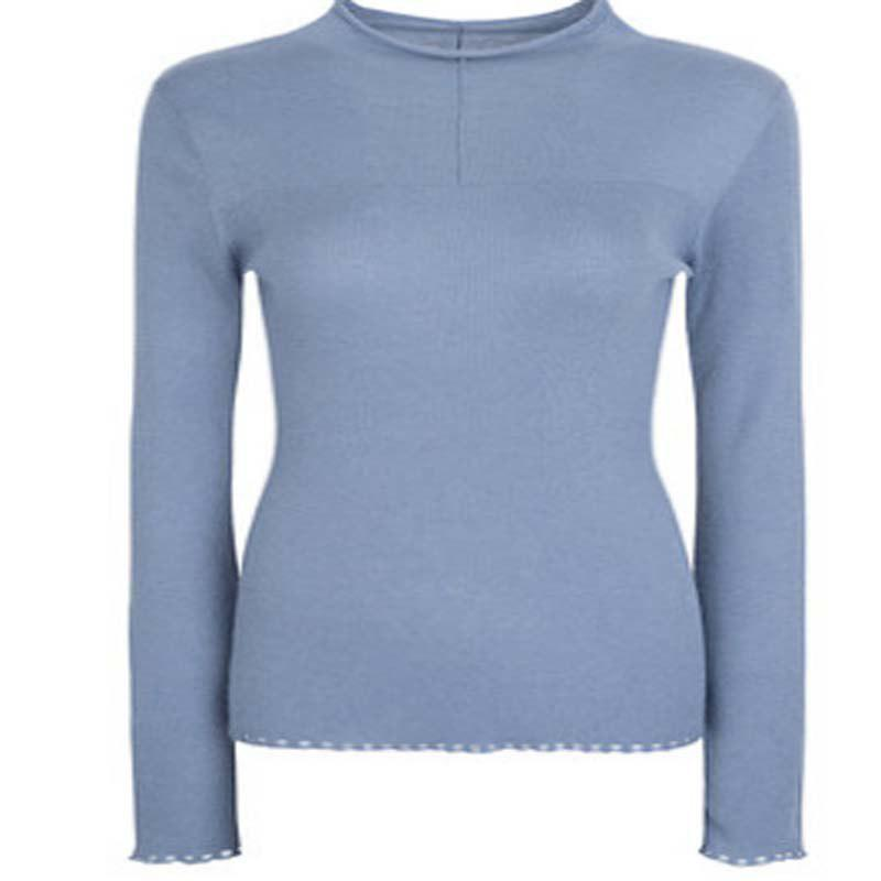 Pull-over en laine fine - Pantone Turquoise M