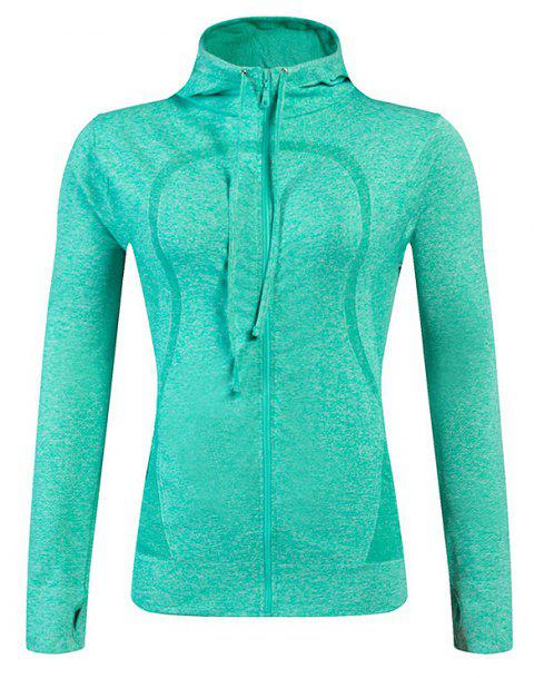 Ladies Training Zip Fitness Stretch Quick-dry Jackets - GREEN S