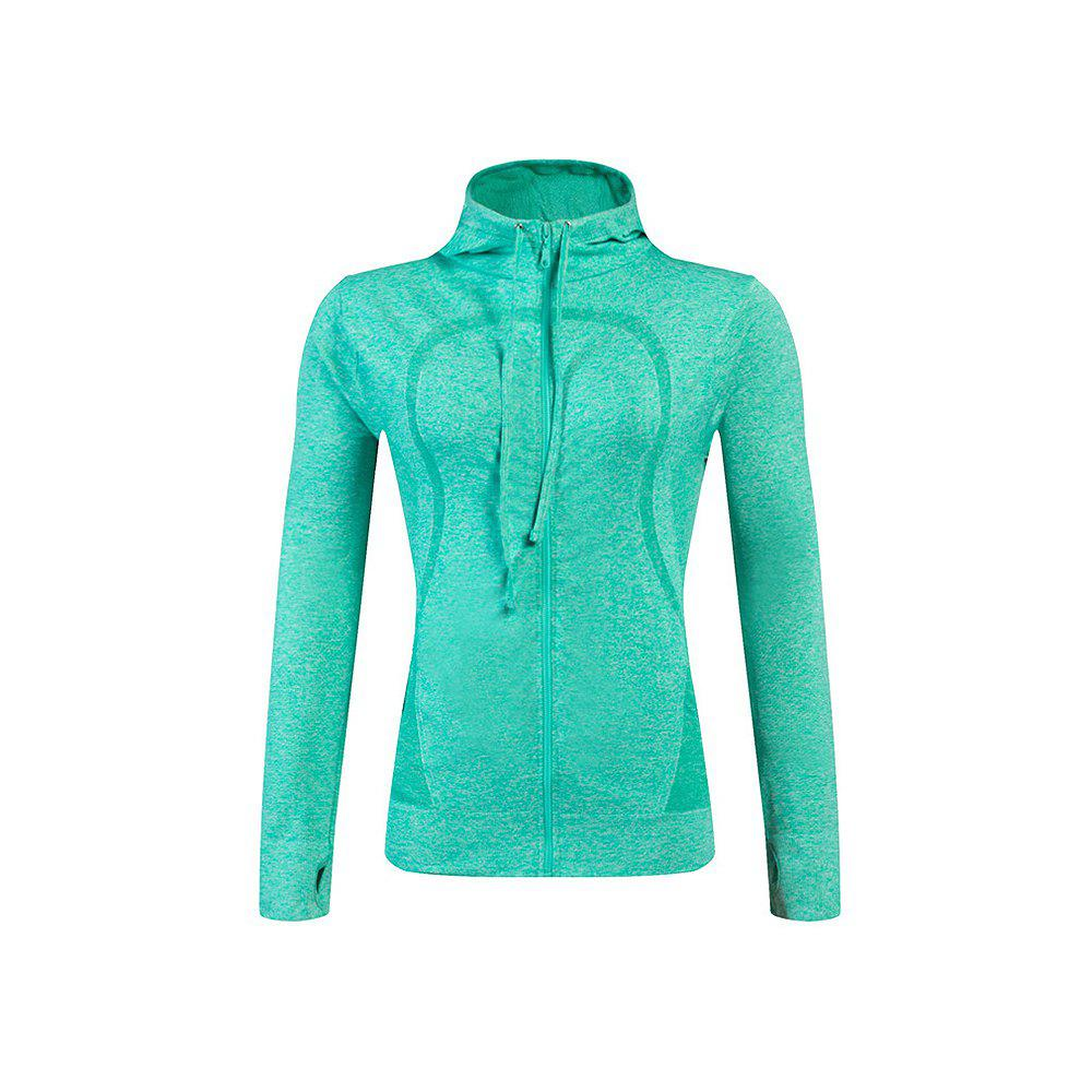 Ladies Training Zip Fitness Stretch Quick-dry Jackets - GREEN L