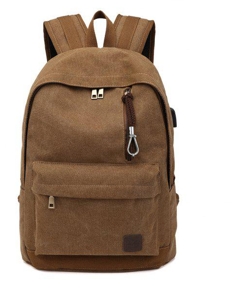 A New Tour Of The European And American Large Capacity Backpack - BROWN