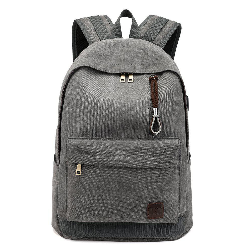 A New Tour Of The European And American Large Capacity Backpack - GRAY