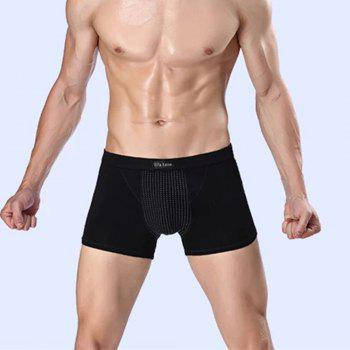 Penis Enlargement U Convex Boxer Trunk Magnetic Therapy and Health Protection Underwear - BLACK 3XL