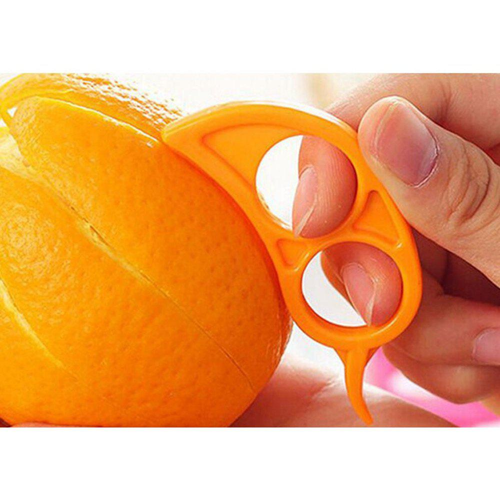 10 Pcs Orange Opener Peeler Slicer Cutter Lemon Citrus Fruit Skin Remover - ORANGE