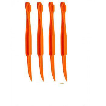 6 Pcs Orange Peeler Slicer Lemon Citrus Fruit Opener Skin Remover - ORANGE
