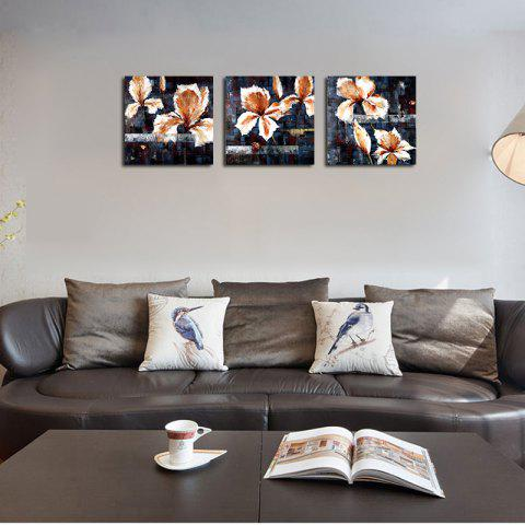 QiaoJiaHuaYuan No Frame Canvas Living Room Sofa Background Triplet Picture Abstract Flower - COLORMIX