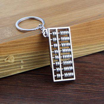 Abacus Keychain Key Rings Metal Jewelry Creative Gifts - SILVER