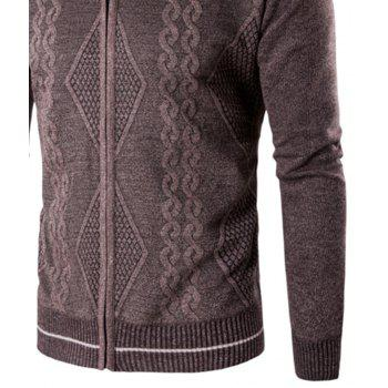 2018 Spring and Autumn  Slim Lapel  Leisure Sports Cardigan - MOCHA XL