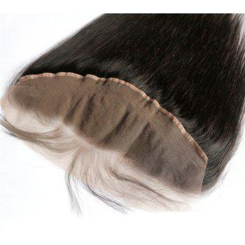 Silky Straight 100 Percent Peruvian Virgin Hair Lace Frontal Natural Color 1pc - NATURAL COLOR 12INCH