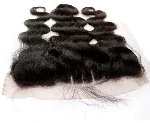 Body Wave 100 Percent Peruvian Human Virgin Hair Lace Frontal Natural Color 1pc - NATURAL COLOR 8INCH