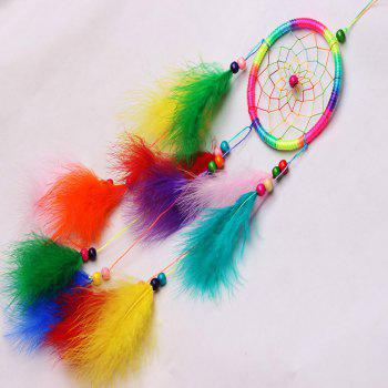 Handmade Dream Catcher Net With feathers Wind Chimes Hanging Carft Gift For Home Decoration - COLOUR