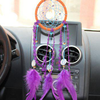 Fashion Chimes Indian Feather Pendant Dream Catcher - PURPLE