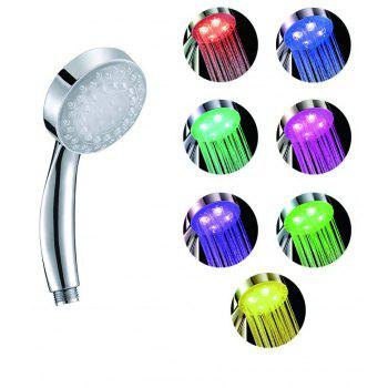 BRELONG LED Shower Head  Colorful Gradual Changing Handheld Shower Heads - COLORFUL