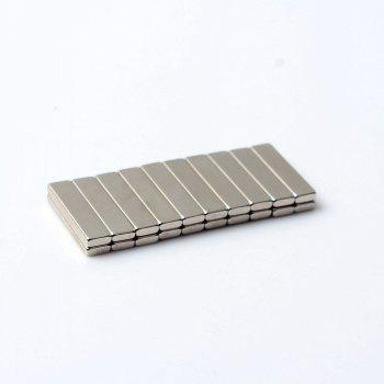 20Pcs Refrigerator Magnets Premium Brushed Nickel Office Magnets 20x5x2 mm - SILVER