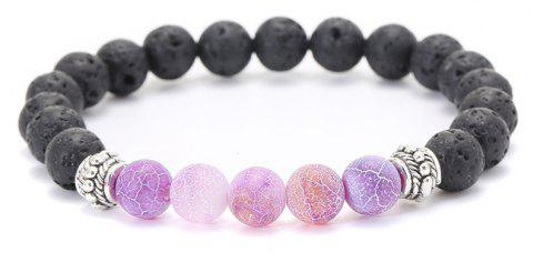 Natural Stone Beads Bracelet Bangle Stretch Yoga Jewelry Fashion Accessories For Lovers Valentine's Day Gifts for Woman - LIGHT PURPLE
