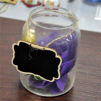 170628 Color Double-Sided Blackboard Hemp Pendant Home Furnishing Decorative Pendant 12pcs - WOOD