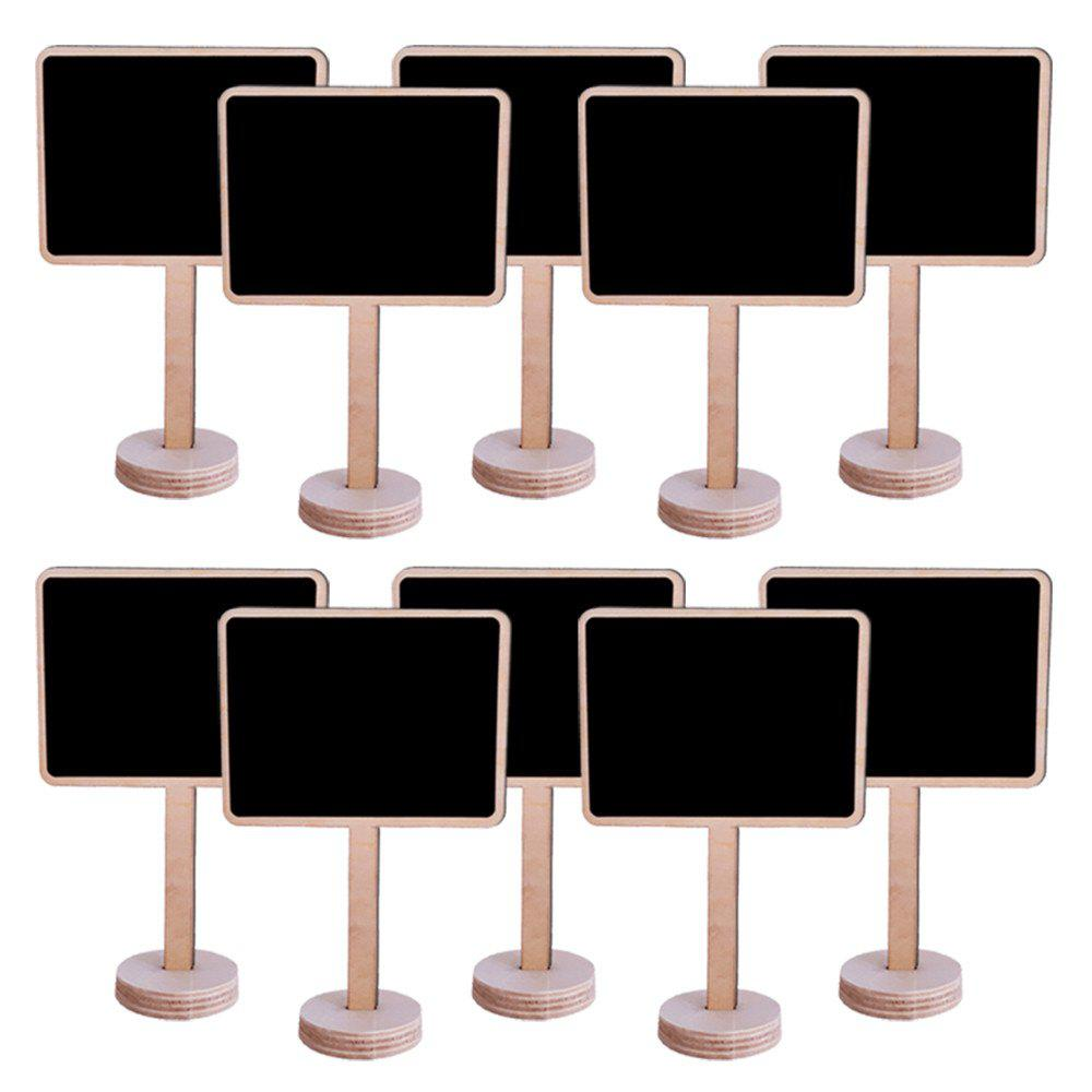 170728 Color Wood Decoration Decoration Small Blackboard Home Furnishing 10 Pcs - WOOD