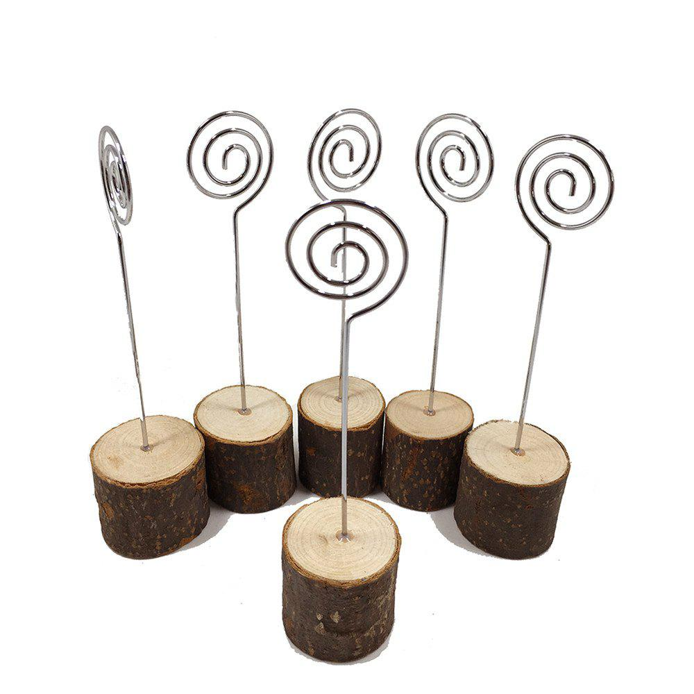 170721 of The Original Bark Stump Clip Clip Decorative Ornaments Creative Photo Home Furnishing Party 6PCS - WOOD