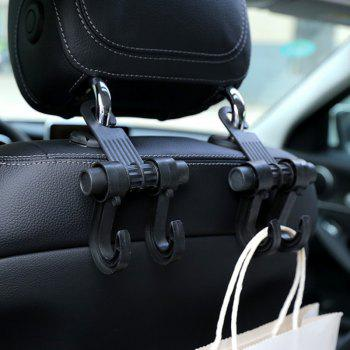 1Pc Multi Function Hook for Car Seat Back - BLACK 17.5X10.5CM