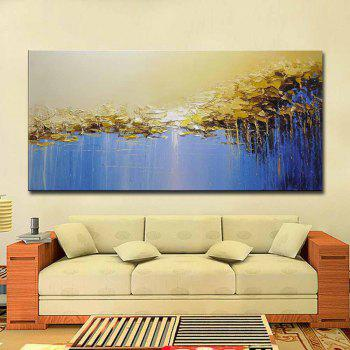 Modern Hand Painted Abstract Canvas Oil Painting Acrylic Living Room Home Wall Decor - COLORMIX 24 X 48 INCH (60CM X 120CM)