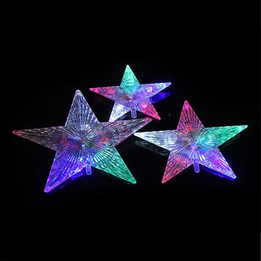 LED Color Five Pointed Star Shape Decorative Holiday Lights String   COLOUR  14CM