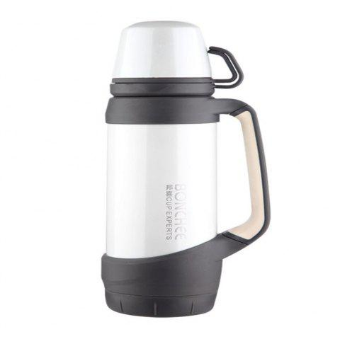 Creative Stainless Steel Outdoor Vacuum Thermos - WHITE