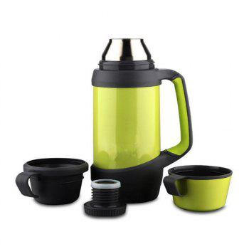 Creative Stainless Steel Outdoor Vacuum Thermos - GREEN