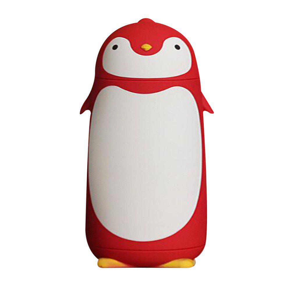 Double Stylish Dumb Penguin Creative Cartoon Insulation Bottle - RED 18X7CM