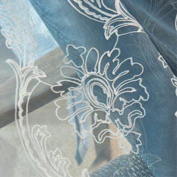 Embroidery Ingot Flowers Thin Section Screens Curtains - BLUE 100X250CM
