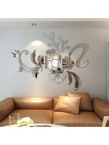 Attrayant 3D Stereo Flower Wall Mirror Wall Stickers