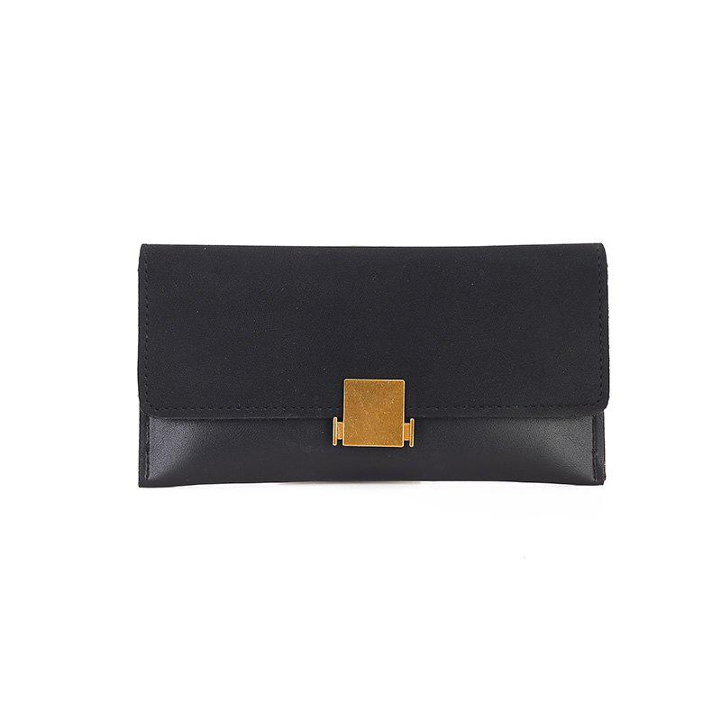Female New Zipper Zipper Wild Wallet Purse - BLACK