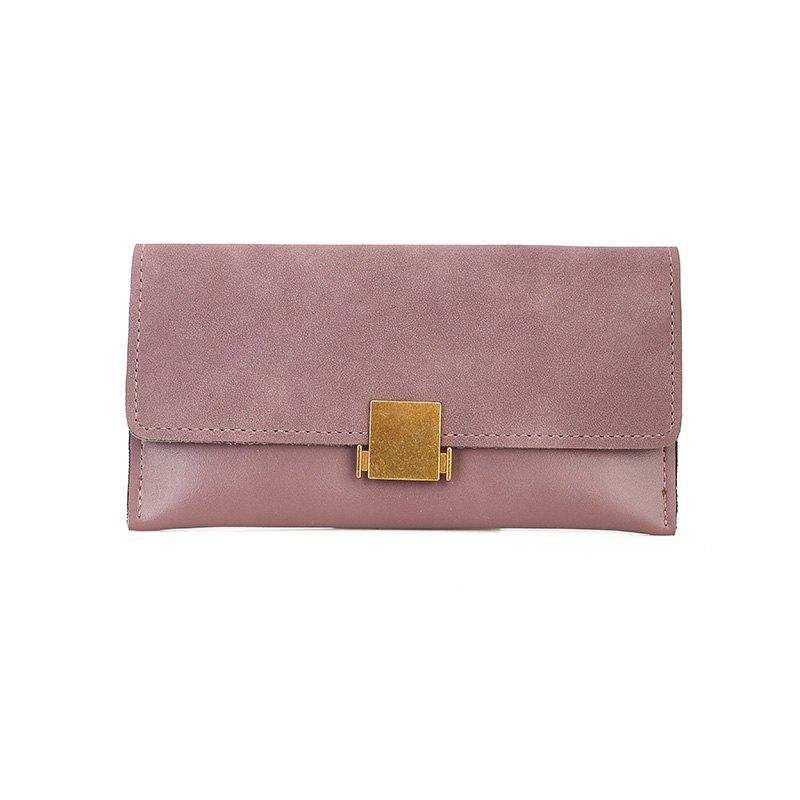 Female New Zipper Zipper Wild Wallet Purse - PINK
