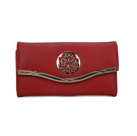 Femme Pochette Sweet Style Patchwork Faddish All Accessoire - Rouge
