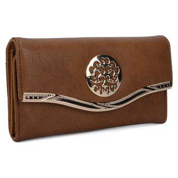 Women's Clutch Sweet Style Patchwork Faddish All Match Accessory - BROWN