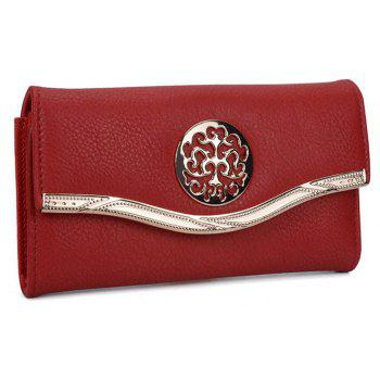 Women's Clutch Sweet Style Patchwork Faddish All Match Accessory - RED
