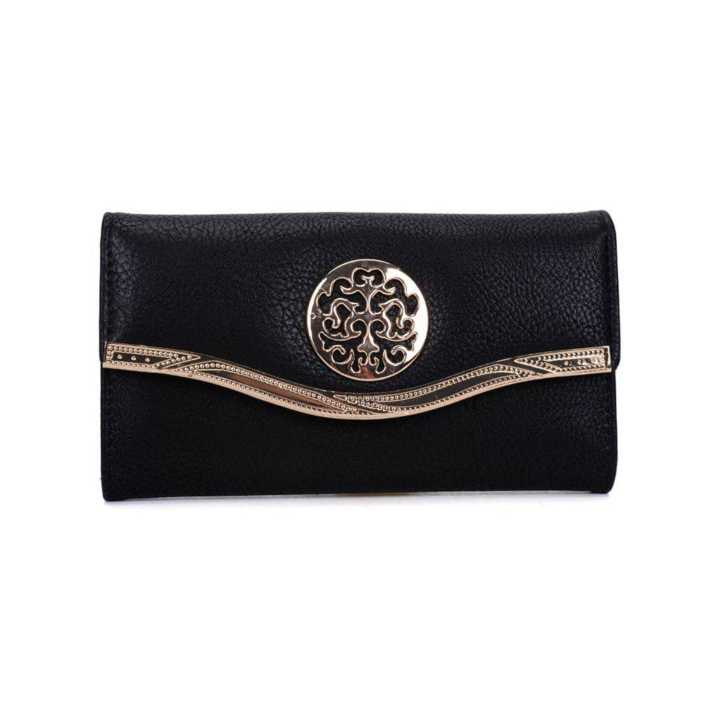 Women's Clutch Sweet Style Patchwork Faddish All Match Accessory - BLACK