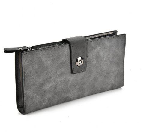 Women's Clutch Brief Style Buckle Faddish All Match Bag - DEEP GRAY